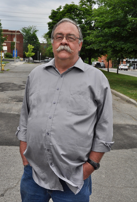 Pat Warner is one of several neighbours on Highcroft Avenue in Westboro who are worried about a proposed new development. Photo by Andrea Tomkins