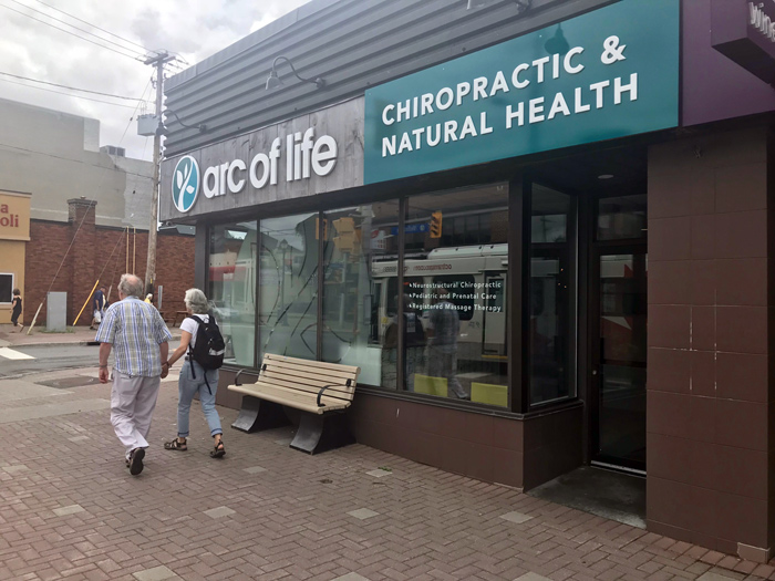 Arc of Life Chiropractic opened at 1318 Wellington St W. near Clarendon Avenue. They offer massage therapy as well as chiropractic care.