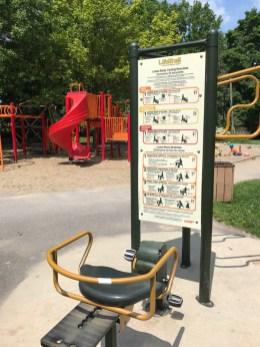 Fitness station in Clare Park in Westboro