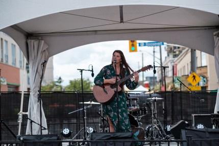 Singer/songwriter Danielle Allard serenades festival goers