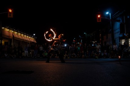 Fire Weaver, Sophie Latreille lights up the street with her scorching dance performance