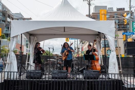Jazz trio Django Fet on the Fuse Mainstage