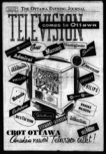TV comes to Ottawa! Advertisement in The Ottawa Journal, May 22 1953