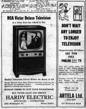 Advertisement in The Ottawa Journal on May 22 1953