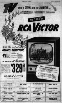 Advertisement in The Ottawa Journal, April 23 1953.