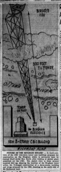 From an article published in The Ottawa Journal on January 15, 1953 about the proposed tower.