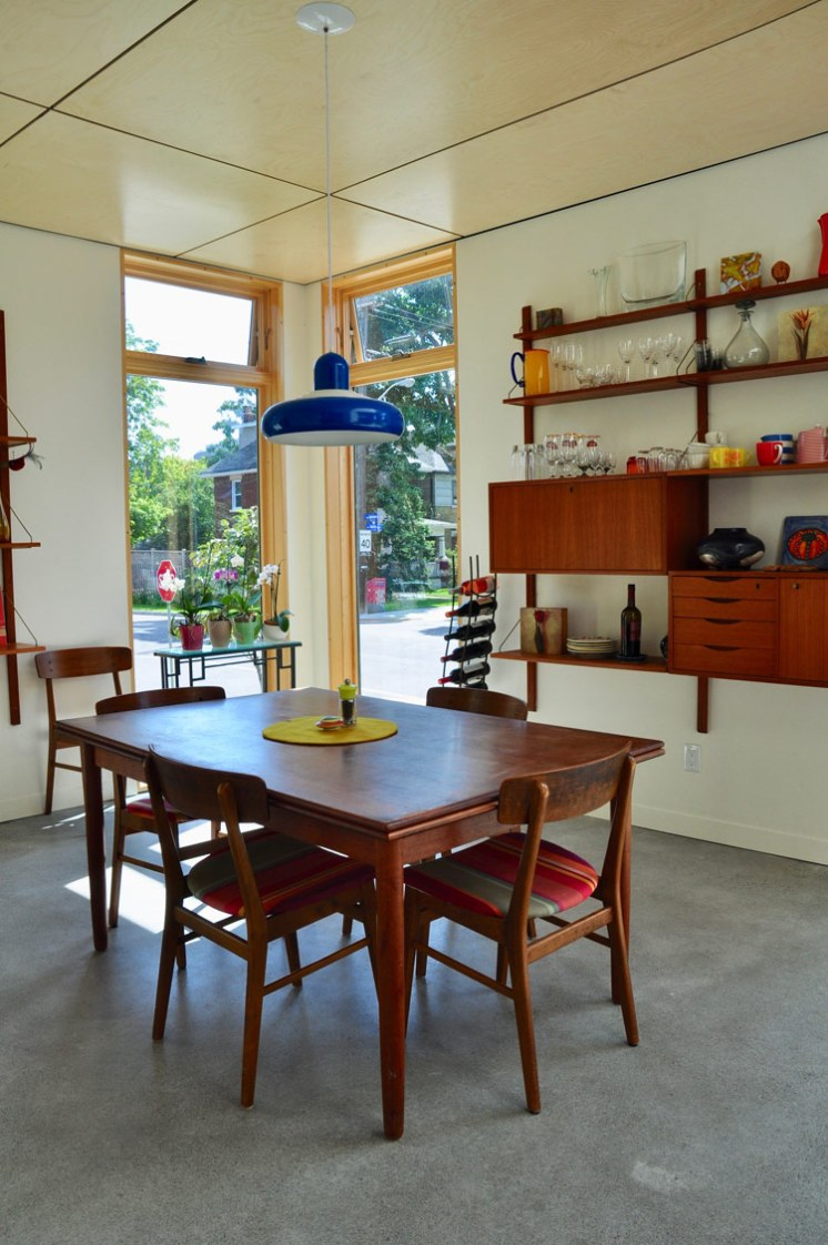 This 1970's teak dining room belonged to Kate's parents.