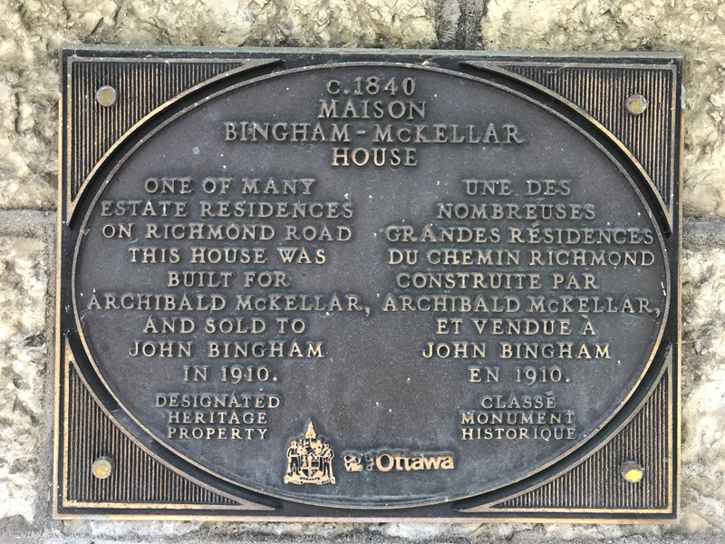 Heritage plaque, as pictured in 2018. Photo by Andrea Tomkins