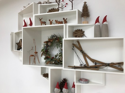 Steal this idea: swap out your knick knacks for something merry and seasonal for the month of December.