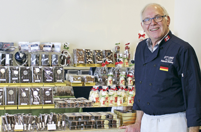 Stubbe Chocolates has opened its doors at 1224 Wellington St. W. While other chocolatiers in Kitchissippi have come and gone, Chef Heinrich Stubbe notes that he is in it for the long haul. Photo by Paula Roy