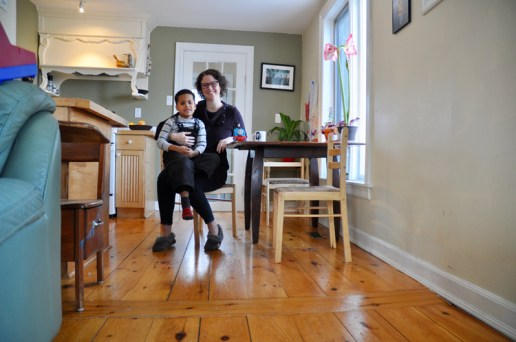 Katherine Muldoon and her son Nico are happy residents of 440 Evered Ave. Photo by Andrea Tomkins