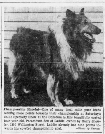 A newspaper clipping from The Ottawa Citizen, October 13, 1950.