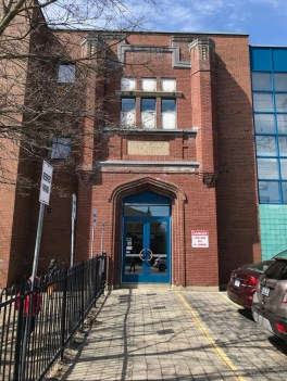 """The original """"face"""" of the school was permanently saved when it became part of the """"new"""" Churchill P.S. in Westboro."""