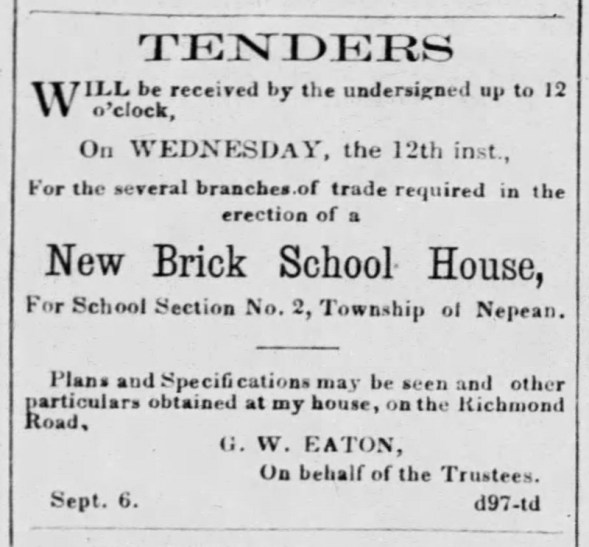 Clipping from the Ottawa Daily Citizen on Friday Sep.7, 1866