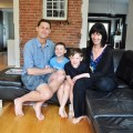 Eric Lussier and Alison Zinni with their sons Oscar and Jack. Photo by Andrea Tomkins