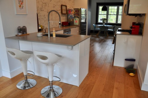 View of the kitchen. Photo by Andrea Tomkins