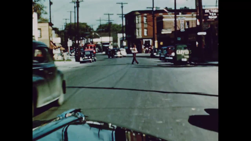 Driving on Wellington east towards Holland 1949 (National Film Board)