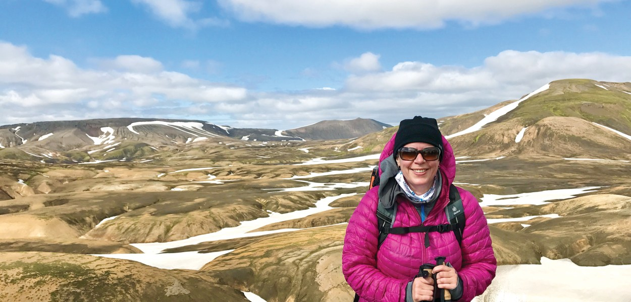 Jennifer Stewart participated in a Royal Lepage fundraiser by hiking in Iceland two years ago.
