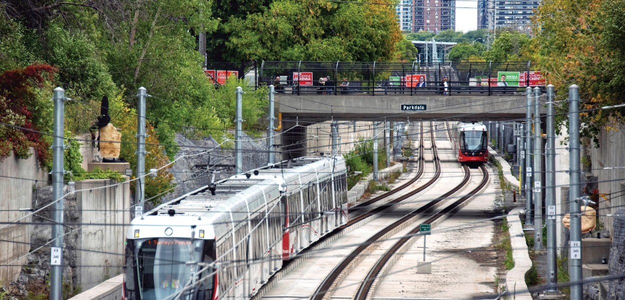 New light rail trains arrive at Tunney's Pasture station