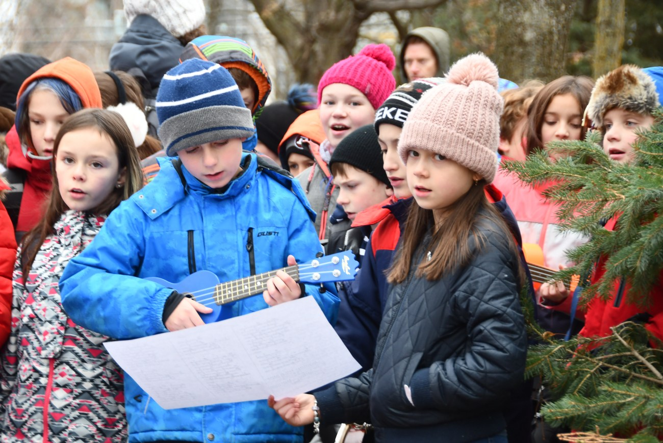 Students from the School of Rock program at Churchill Alternative School sing and play music during this year's Remembrance Day ceremonies in Westboro. Photo courtesy Helen Flaherty, Westboro Legion