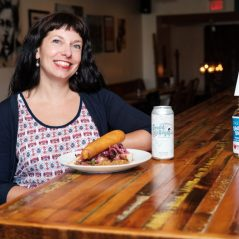 Summer Baird of Hintonburg Public House, a participating business in the LOVE.WellingtonWest.ca crowdfunding campaign. Photo courtesy of the Wellington West BIA.