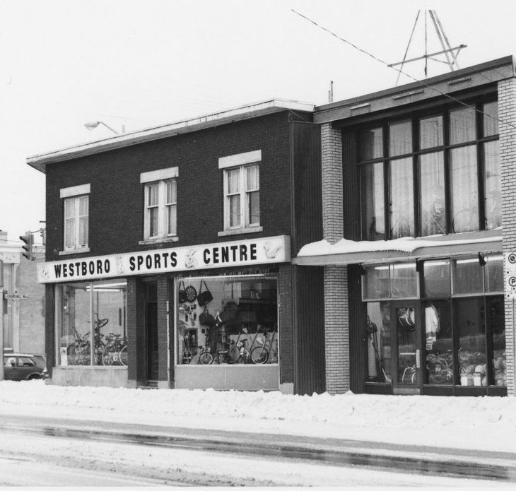 A picture of the Westboro Sports Centre in the 1970s.