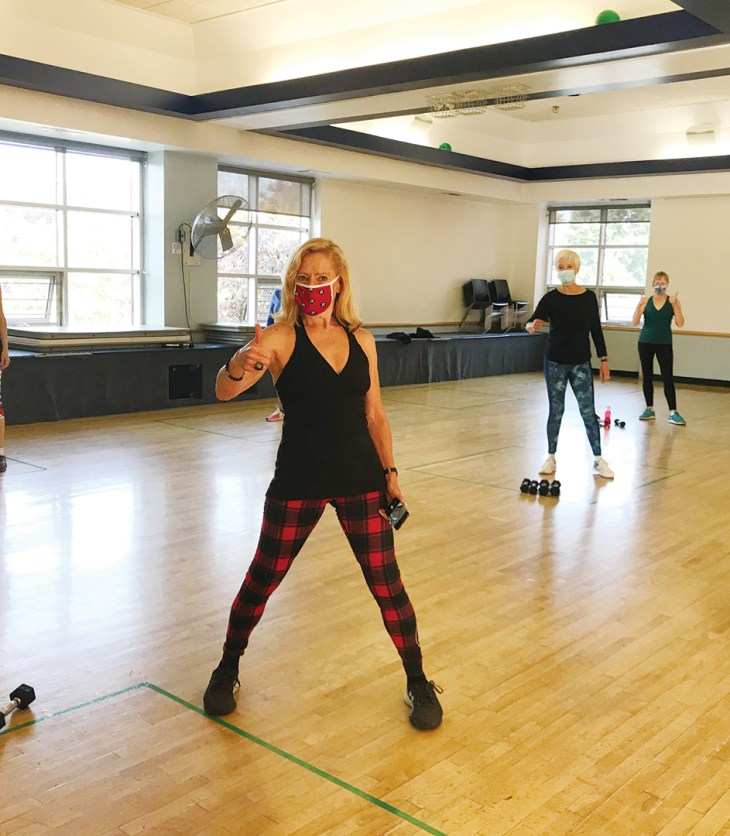 A photo of a fitness class at Dovercourt Recreation Centre.