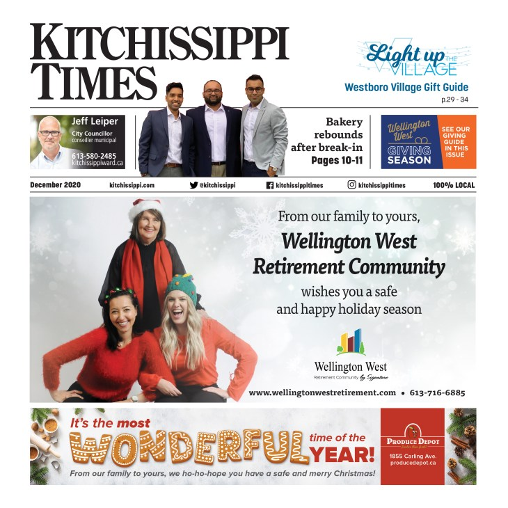 The cover of the Kitchissippi Times December edition.