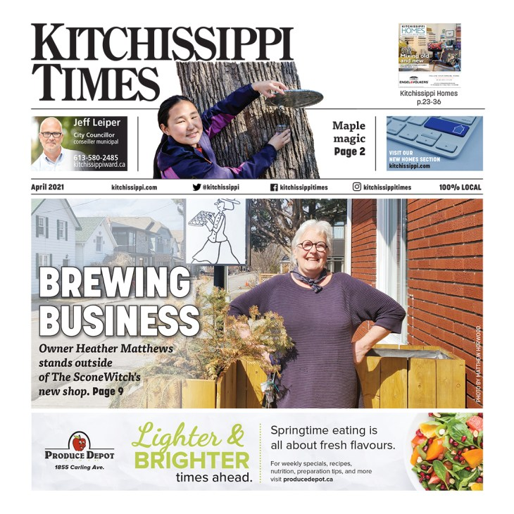 The cover of Kitchissippi Times' April edition