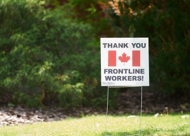 Thanks to all our pandemic frontline workers! Photo by Ellen Bond.