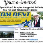 Tom Dent Held Special Re-Election Kickoff May 17