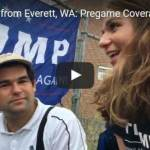 Pre-Game crowd interviews from Donald Trump Rally Tuesday