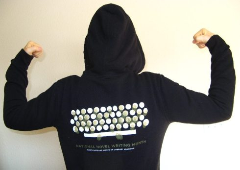 My magic NaNoWriMo hoodie. I wore this every time I wrote.
