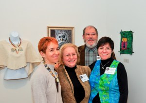My sister, my parents, and me at our family art show in 2009.