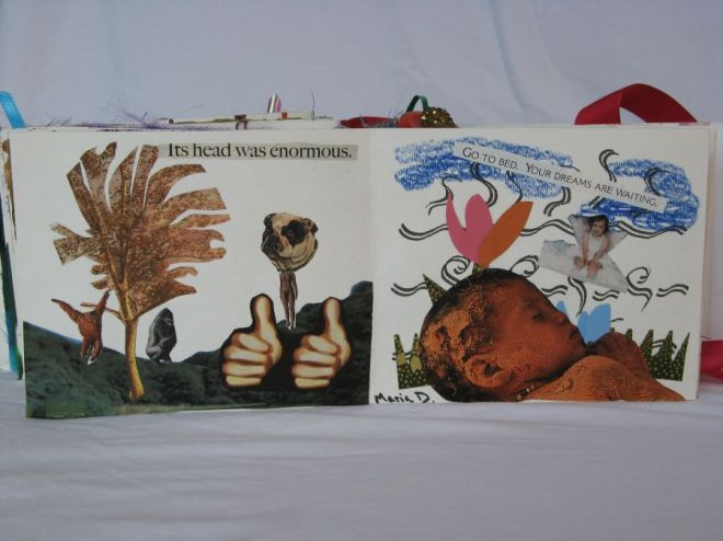 Go To Bed by Maria DiFrancesco. One of the collages done by a friend.