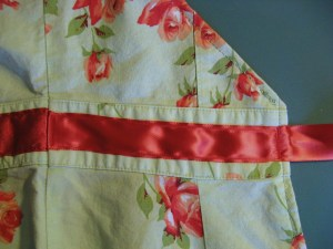 I tacked the waistband ribbon down with extra stitching since it will be under stress.