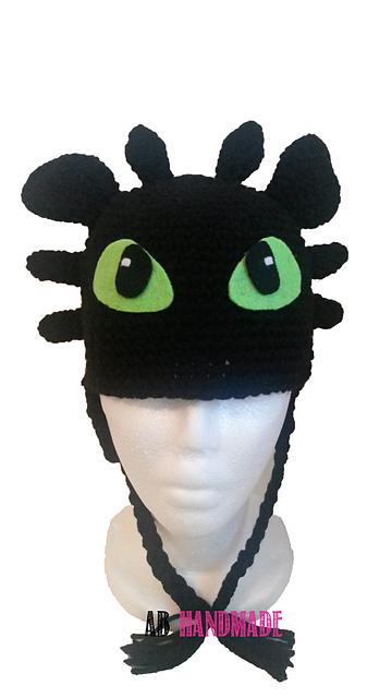 Alexandra Britt's crocheted Toothless beanie