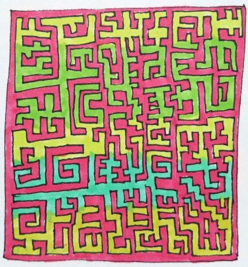 Blended maze