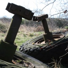 Abandoned Truck Wheels