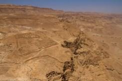 Vista da Masada verso uno degli accampamenti romani