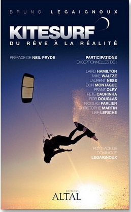 livre sur l'histoire du kitesurf avec participation de Laurent Ness