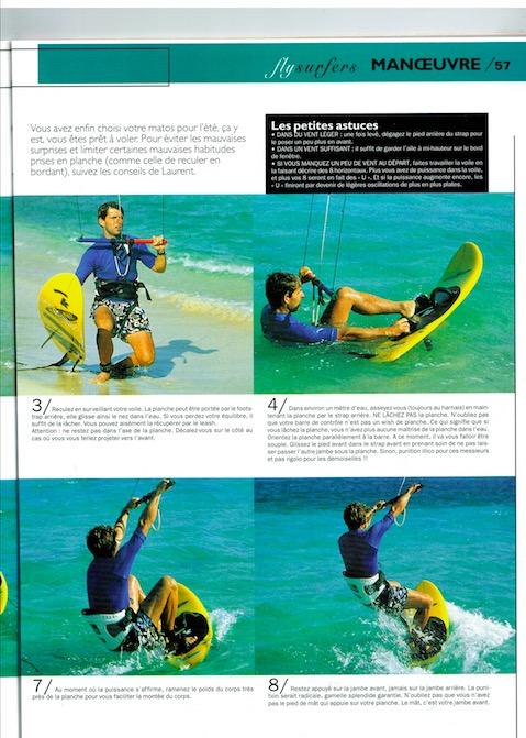 article pédagogique sur le waterstart en kitesurf