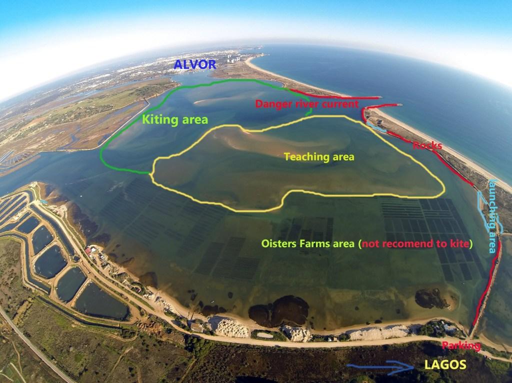 kitesurfing lagoon of Lagos