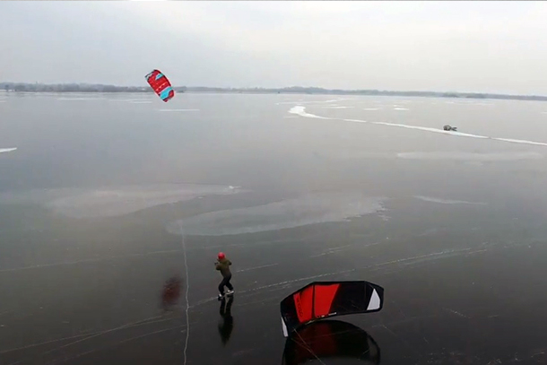 Ice surfing, ice kite surfing or ice wing surfing. What will it be?