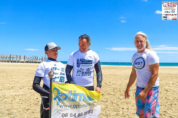 Mister Speed Forever Principe Baldini (rechts) met Sylvain Hoceini (midden) en Enzo Pineiro (links)