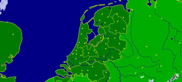 Sneeuw radar voor de actuele sneeuwval en verwachte sneeuw in cm in Nederland