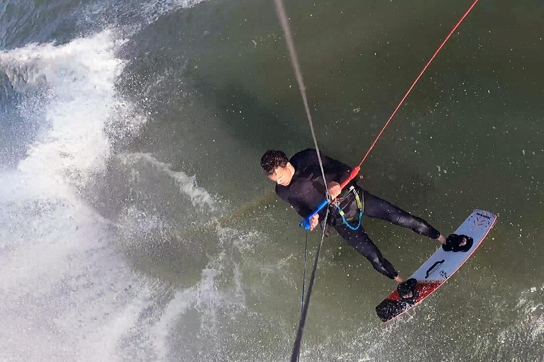 Watergordijn kitesurfen