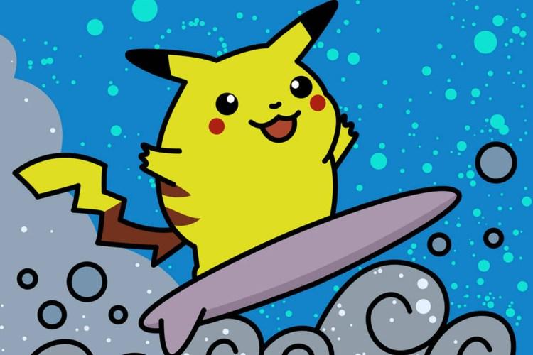 Pokémon kitesurf en Pokemon kite kaarten verkenning