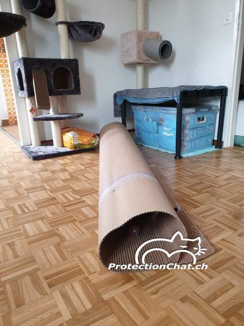 Kit et Cadre - filet de sécurité pour chats - emballage