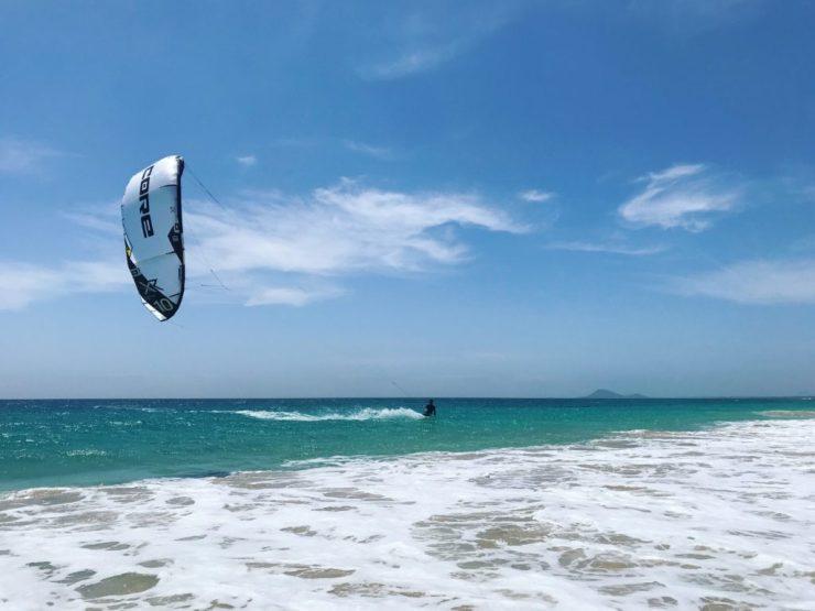 kiting am Riu beach sal